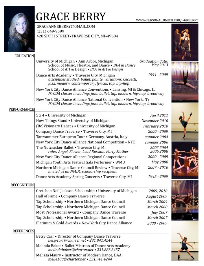 Sample Dance Resume Search Results Calendar 2015